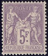 ** No 95, Violet Sur Lilas, Nuance Foncée, Très Frais Et Centré. - TB - 1876-1878 Sage (Type I)