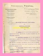 DESCRIPTIF  D Un Pont Roulant A 3 Moteurs  Par Les Ets POSTEL  Paris - Zonder Classificatie