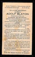 ADOLF BLATON  GERAADSBERGEN 1851   1933 - Décès