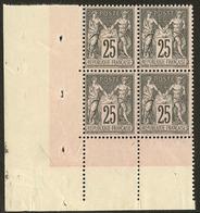 ** No 97, Bloc De Quatre Cdf (un Ex * Et Un Ex Froissure). - TB - 1876-1878 Sage (Type I)