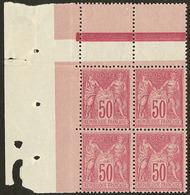 ** No 98, Bloc De Quatre Cdf, Très Frais. - TB - 1876-1878 Sage (Type I)