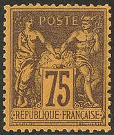 ** No 99, Violet Sur Orange, Très Frais. - TB - 1876-1878 Sage (Type I)