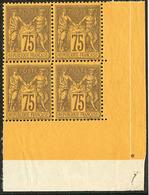 ** No 99, Bloc De Quatre Cdf, Se Détache Légèrement Mais Très Frais. - TB - 1876-1878 Sage (Type I)