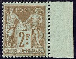 ** No 105, Bistre Sur Azuré, Bdf, Très Frais. - TB - 1876-1878 Sage (Type I)