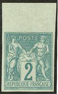 ** Non Dentelé. No 62a, Bdf, Pli Diagonal Mais Superbe D'aspect - 1876-1878 Sage (Type I)
