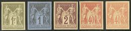 (*) Granet. Nos 83f, 85d, 94d (2), 82b. - TB - 1876-1878 Sage (Type I)