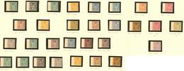 (*) Tirage Sur Bristol, De 1900. Les 30 Valeurs Du 1c Au 5f, Tous Bdf. - TB. - R - 1876-1878 Sage (Type I)