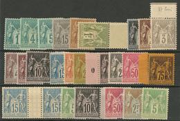 ** Collection. 1876-1900 (Poste), Bonnes Et Moyennes Valeurs Entre Les 62 Et 106. - TB - 1876-1878 Sage (Type I)