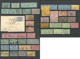 Lot. 1876-1900, Entre Les N°61 Et 106, Tous En Paire, Qqs Doubles. - TB - 1876-1878 Sage (Type I)