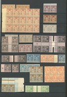 ** Lot. 1877-1900 (Poste), Valeurs Moyennes Entre Les N°80 Et 106, Dont Des Paires Et Blocs, Qqs Ex *. - TB - 1876-1878 Sage (Type I)