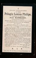 PELAGIE PHILIPS  GEMEENTEONDERWIJZERES EEKLO 1861  GENT 1912 - Décès