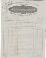 Facture Illustrée 27/8/1898 MARAVAL Péruviennes Flanelles  CASTRES Tarn Pour Bénac à Rauzan Gironde - 1800 – 1899