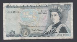 Banconota Gran Bretagna 5 Pounds 1982-88 (circolata) - 5 Pounds