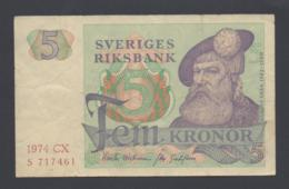 Banconota Svezia 5 Kronor 1974 (circolata) - Suède