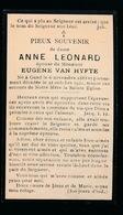 ANNE LEONARD  GENT 1883   1931 - Décès