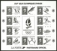 ** Jeux Olympiques. Non Dentelé, En Noir. No 14b. - TB - Blocs & Feuillets