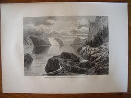 Canada, Point-Noir, Trinity Rock, Cap Eternity, Sur Le Saguenay   Gravure    1880 - Vieux Papiers