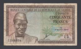 Banconota Guinea - 50 Franchi - 1960  (circolata) - Guinea