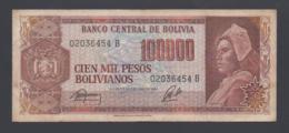 Banconota Bolivia 100000 Bolivianos (circolata) - Bolivie