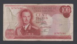 Banconota Lussemburgo 100 Francs - 1970 (circolata) - Lussemburgo