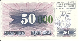 BOSNIE HERZEGOVINE 50000  DINARA 1993 UNC P 55 G - Bosnie-Herzegovine