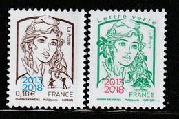 N°5234/5 ** (2018) MARIANNE CIAPPA Surchargée 2013/2018 - - 2013-... Marianne Of Ciappa-Kawena