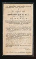JOANNA DE WILDE  GENT  1879  1927 - Décès