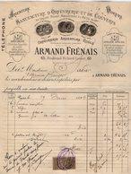 VP14.215 - Facture - Manufacture D'Orfèvrerie Et De Couverts Armand FRENAIS à PARIS Boulevard Richard - Lenoir - 1800 – 1899