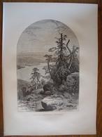 Canada, Le Lac Memphremagog  Gravure    1880 - Vieux Papiers