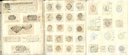 Lettre Collection. 1692-1870, Ensemble D'environ 600 Empreintes Pour Papiers Timbrés Ou Taxes Fiscales + Divers Cachets  - Fiscaux