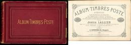 """""""Album De Timbres-Poste"""" Par J. Lallier, 8e édition 1869, Un Des Tout Premier Album De Timbres Du Monde, éd. A. Lenegre  - Specialized Literature"""