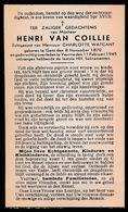 HENRI VAN COILLIE  GENT  1870  VEURNE  1945 - Décès