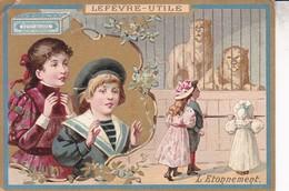 CHROMO BISCUITS LEFEVRE-UTILE - LU - L'Étonnement - PETIT BEURRE - Lu