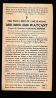JUDIDT WATCANT   GENT  1870   1945 - Décès