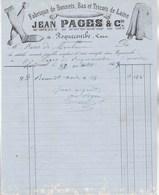 Facture Illustrée 30/10/1858 Jean PAGES Bonnets Bas Tricots ROQUECOURBE Tarn - 1800 – 1899