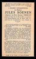 JULES SOENEN   GENT  1855  ST.DENIJS WESTREM 1935 - Décès
