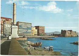 V3750 Napoli - Via Partenope E Castel Dell'Ovo - Panorama / Viaggiata 1967 - Napoli