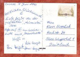 AK Cadzand, EF Rotterdam, MS Pferd Groningen Roosendaal, Nach Wuppertal 1990 (68713) - Storia Postale