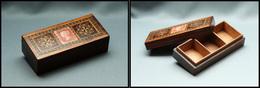 Boîte Tunbridge Avec Timbre Reine Victoria N°26, 3 Comp., 92x42x25mm. - TB - Stamp Boxes