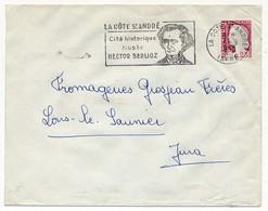 Enveloppe - OMEC Secap - LA CÔTE ST ANDRÉ (Isère) - Cité Historique Musée BERLIOZ - 1969 - Postmark Collection (Covers)