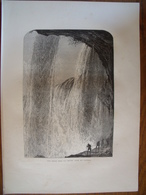 Canada, Les Chutes Du Niagara  Gravure    1880 - Vieux Papiers