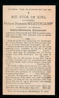 PETRUS WESTENDORP     GENT  1834    1918 - Décès