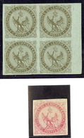 * Nos 1 Bloc De Quatre Petit Bdf, 6 (*). - TB - France (former Colonies & Protectorates)