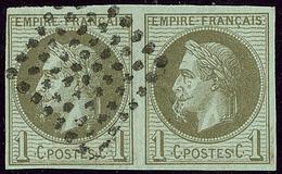 A La Cigarette. No 7a En Paire Avec Normal, Jolie Pièce. - TB. - R - France (former Colonies & Protectorates)