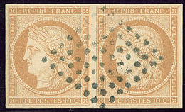 No 11, Paire Obl Losange 64 Points. - TB - France (former Colonies & Protectorates)