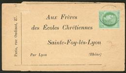 Lettre No 17, Obl Cad Sur Bande Journal Pour Lyon. - TB - France (former Colonies & Protectorates)