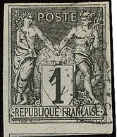 No 37b, Noir Sur Grisâtre, Un Voisin, Obl Cad Pointe à Pitre. - TB (N°et Cote Maury) - France (former Colonies & Protectorates)