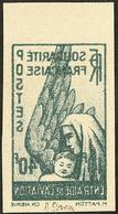 (*) Poste Aérienne. Non Dentelé, Impression Recto-verso. No 1, Bdf, Léger Pli Mais TB - France (former Colonies & Protectorates)