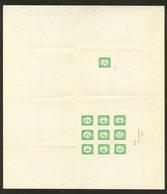 (*) Taxe. Epreuve Sur Grand Feuillet Gommé (310x275mm) Des N°27 à 37 (sauf 34), En Vert. - TB. - R - Postage Due