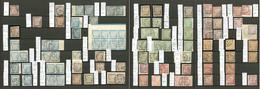Taxe. Collection. 1884-1908, 98 Unités, 10 Paires, Bloc De Quatre Et Bloc De Huit, Valeurs, Nuances Et Obl Diverses. - T - Postage Due